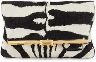 Bienen Davis Zebra Calf Hair Clutch Bag
