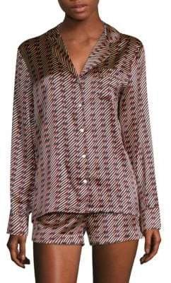 Stella McCartney Poppy Snoozing Silk-Blend Short Pajamas