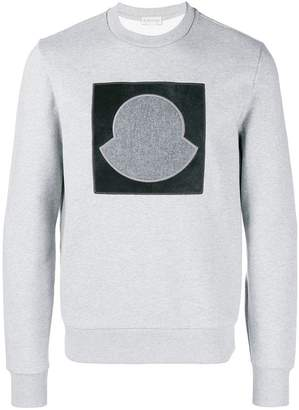Moncler logo appliqué sweatshirt