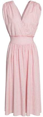 Kain Label Athena Wrap-Effect Tie-Dyed Gauze Midi Dress