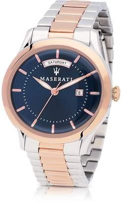 Maserati Tradizione Two Tone Stainless Steel Men's Bracelet Watch