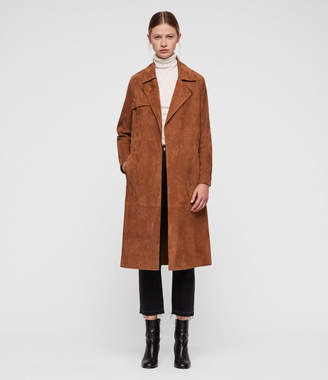 AllSaints Ember Leather Trench Coat