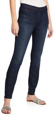 Eileen Fisher Organic Cotton Soft Stretch-Denim Leggings, Plus Size