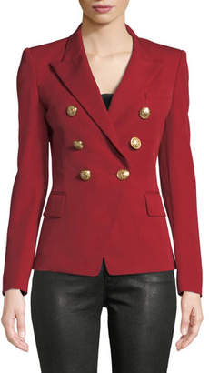 Balmain Double-Breasted Fitted Wool Blazer
