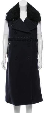 3.1 Phillip Lim3.1 Phillip Lim Shearling-Trimmed Wool Vest w/ Tags