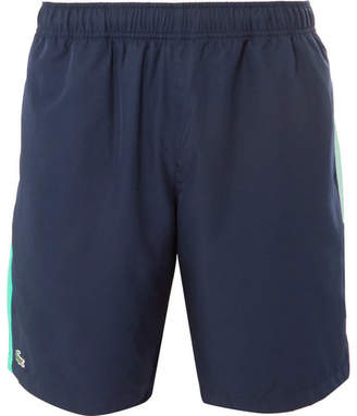 Lacoste Tennis Wide-Leg Striped Ripstop Tennis Shorts