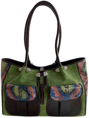 Non Signé / Unsigned Non Signe / Unsigned Green Exotic leathers Handbags