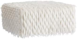 Pottery Barn Teen Riley Lounge Ottoman, Winter Fox Faux-Fur, QS UPS