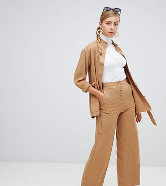 Monki Wide Leg Pants With Pockets