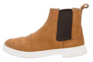 Gucci Suede Round-Toe Boots