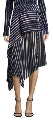 Diane von Furstenberg Draped Silk-Blend Asymmetric Skirt