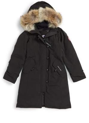 Canada Goose 'Brittania' Down Parka with Genuine Coyote Fur Trim