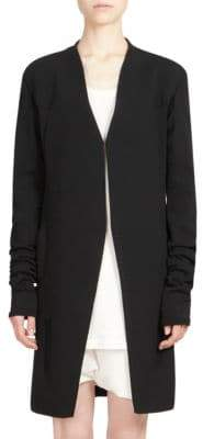 Rick Owens Heavy Cotton Knit Long Jacket