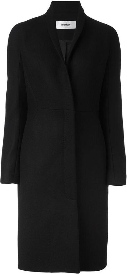 ChalayanChalayan raised collar coat