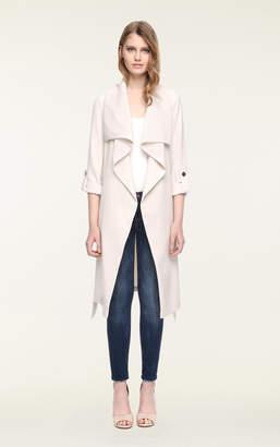 Soia & Kyo ORNELLA drapy knee-length coat with cascade draped collar