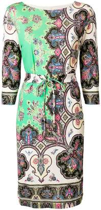 Etro mixed print shift dress