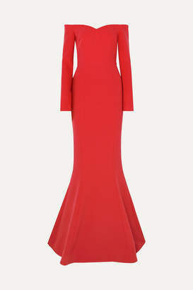 Rebecca Vallance L'amour Off-the-shoulder Crepe Gown - Red