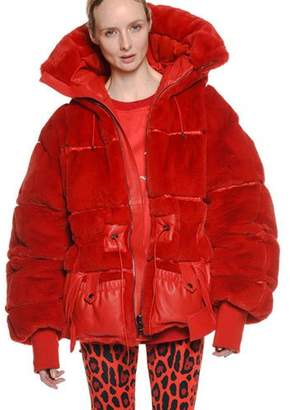 Tom Ford Oversized Quilted Faux-Fur Puffer Coat