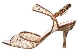 Salvatore Ferragamo Embellished Lace Sandals