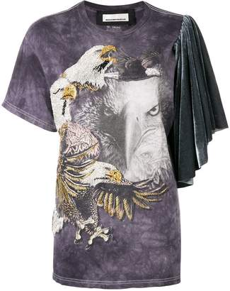 Night Market eagle embroidered T-shirt