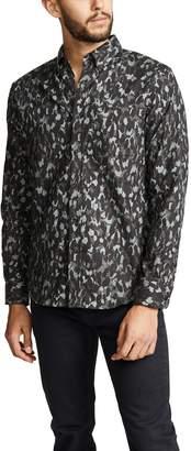 Club Monaco Flannel Cheetah Camo Button-down Shirt
