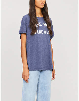 Wildfox Couture 'Make me a sandwich'-print cotton-blend T-shirt
