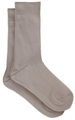 Falke Touch Cotton Blend Socks - Womens - Light Grey