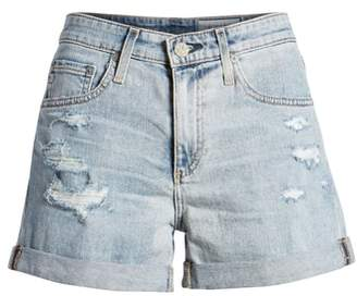 AG Jeans Hailey High Waist Cuff Denim Shorts