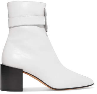 Givenchy Logo-embellished Two-tone Leather Ankle Boots - Black