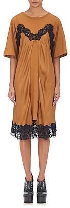 Maison Margiela Women's Cotton T-Shirt & Silk Slip Dress $1,795 thestylecure.com