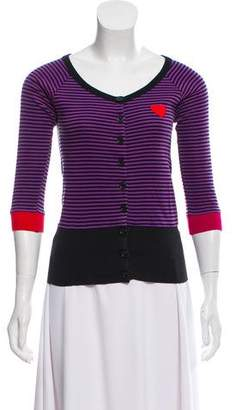 Sonia Rykiel Sonia by Striped Button Up Top