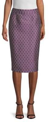 BOSS Varines Geometric Jacquard Pencil Skirt