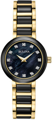 Bulova Womens Two Tone Bracelet Watch-98p159 $375 thestylecure.com
