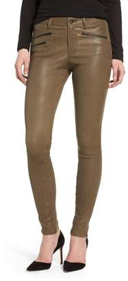 AG Jeans The Farrah High Waist Skinny Leather Pants
