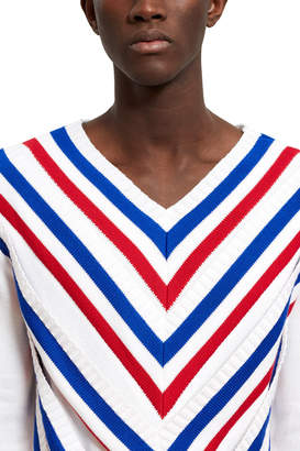 Y/Project Striped V-Neck Sweater