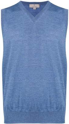 Canali v-neck sleeveless sweater