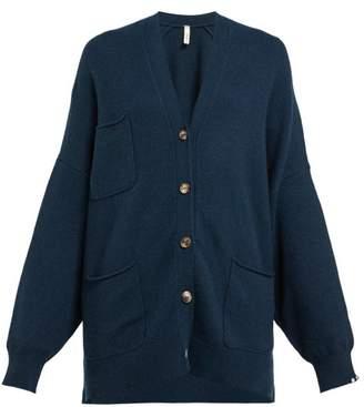 Extreme Cashmere - No.24 Asymmetric Cashmere Blend Cardigan - Womens - Navy