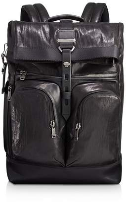 Tumi Alpha Bravo London Roll-Top Leather Backpack
