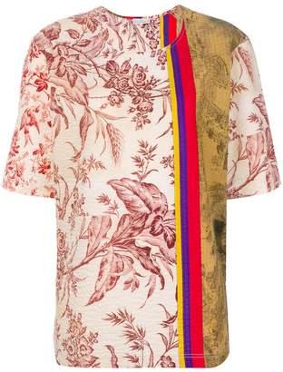 Pierre Louis Mascia Pierre-Louis Mascia colour-block floral top