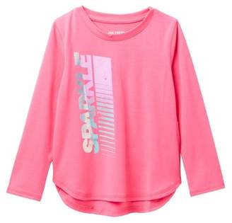 Joe Fresh Graphic Long Sleeve Top (Toddler & Little Girls)