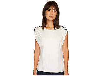 Bobeau B Collection by Norah T-Shirt with Trim Detail Women's T Shirt