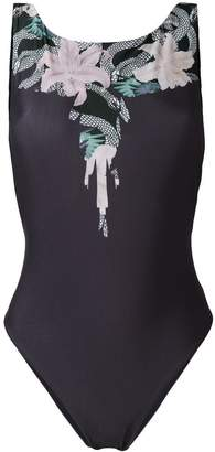 Marcelo Burlon County of Milan Wings Flowers swimsuit