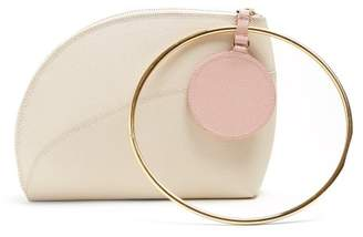 Roksanda Eartha Dot Bi Colour Leather Clutch - Womens - White Multi