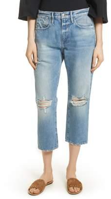 Frame Le Stevie Distressed Crop Jeans