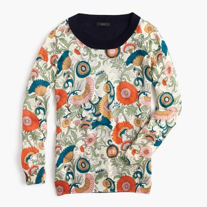 J.CrewTippi sweater in ornate floral