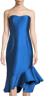 Sachin + Babi Cleo Strapless Mermaid Knee-Length Dress
