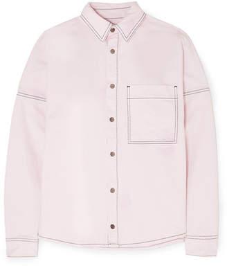 Palm Angels Oversized Printed Denim Shirt - Pastel pink