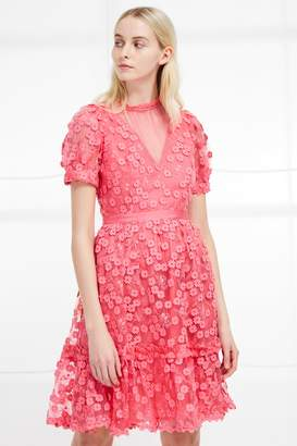 French Connection Caballo Lace High Neck Dress