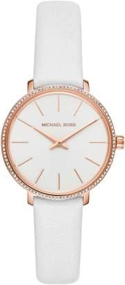 MICHAEL Michael Kors Mini Pyper Leather Strap Watch, 32mm