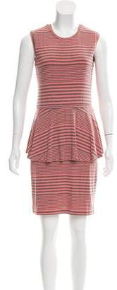 Nicole Miller Striped Peplum Dress